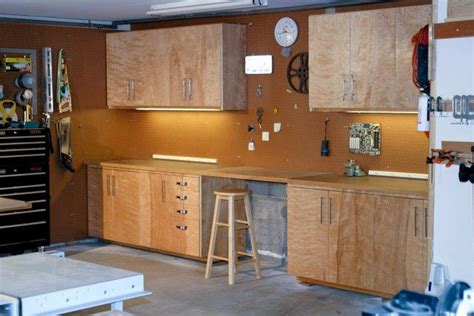 building garage cabinets plywood armoire rangement