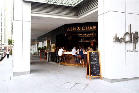 ash char charred  smoked food   modern diner