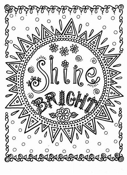 Coloring Pages Inspirational Quotes Adult Positive Quote