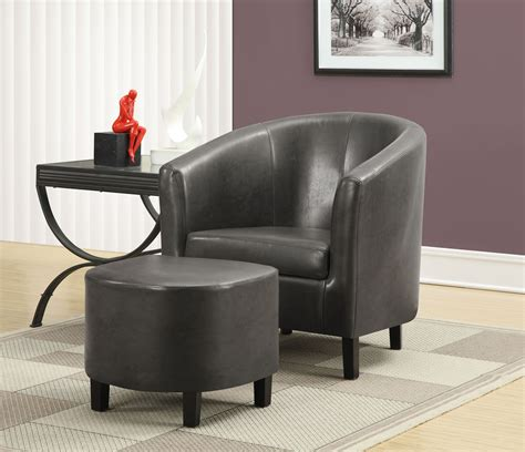 gray chair with ottoman charcoal gray accent chair with ottoman from monarch 8054