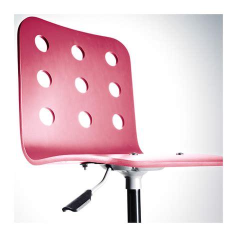 jules junior desk chair pink silver colour ikea