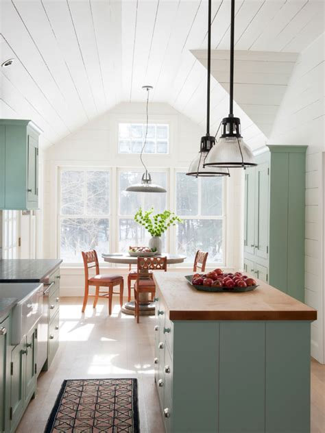 blue green kitchen cabinets interiors  color