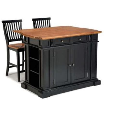 Home Depot Home Bar by Home Styles Americana Black Kitchen Island With Seating