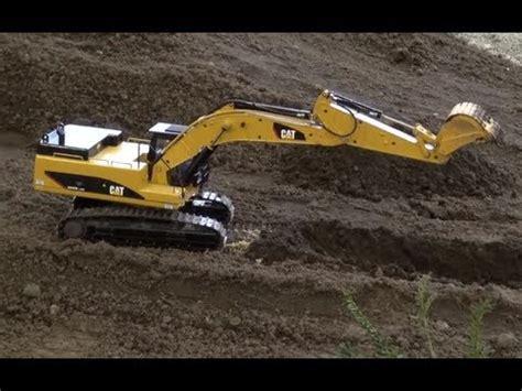 awesome rc metal excavator caterpillar   sound  mini trucks roadworks  real
