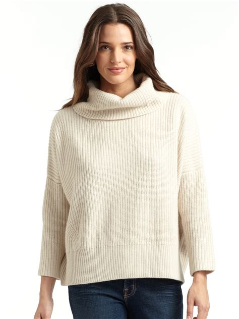 patch sweater autumn cowlneck patch sweater in black lyst