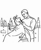Barber Coloring Pages Hair Clipart Jobs Colouring Job Drawing Cut Crazy Printable Getdrawings Getcolorings Webstockreview sketch template