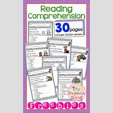 Free 30 Page Reading Comprehension Work Bundle