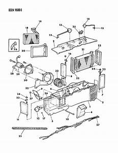 1988 Dodge D150 Air Conditioner  U0026 Heater Unit
