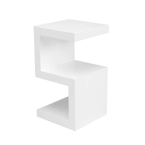 White Table by S Side Table White Dwell