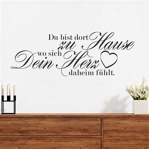 Zu Hause Zuhause : wandtattoo spruch du bist dort zu hause ~ Markanthonyermac.com Haus und Dekorationen