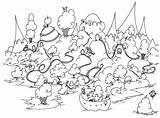 Coloring Island Guinea Pig Grassland Rhode Colouring Printable Ice Cream Penguin Bison Pigs Sheets Adult Animals Pdf Bluebison Seuss Dr sketch template