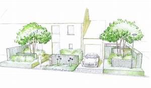 jardin de lotissement croquis devanture drawing for With conception de maison 3d 4 fiorellino paysagiste conception plan et croquis une