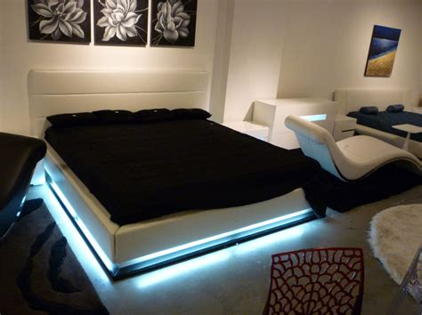 27265 bed with lights contemporary platform bed with lights