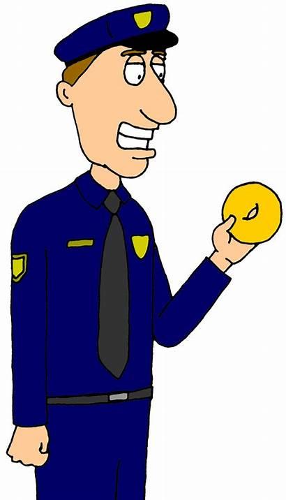 Police Cop Clipart Clip Cartoon Officer Policeman