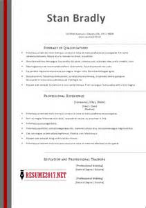 resume templates 2017 word of the year resume 2017
