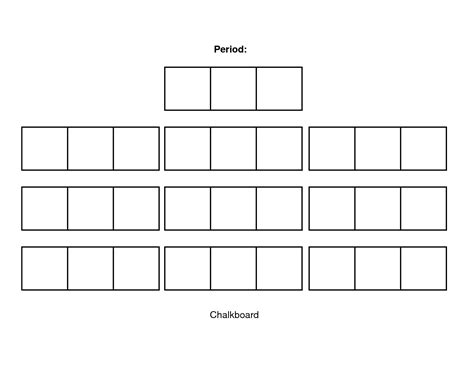 Seating Chart Template Classroom Seating Chart Template Peerpex