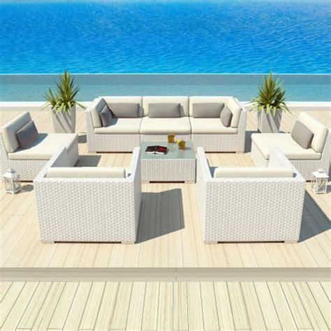 uduka outdoor patio furniture white wicker set daly