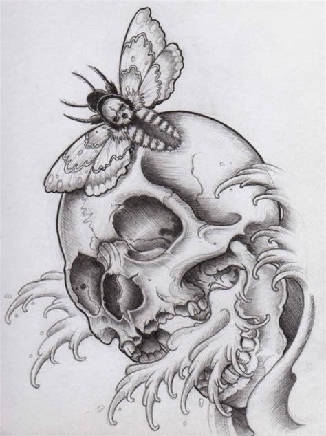 Danse Macabre Halloween Skull Tattoo Design