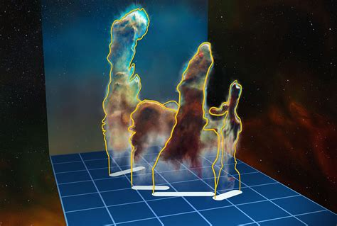 La Creation by Pillars Of Creation Shown In 3d For The Time
