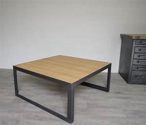 Table Industrielle Bois : table de salon style industriel ~ Teatrodelosmanantiales.com Idées de Décoration