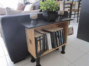 caisses a vin upcycled bymegco With nettoyage tapis avec petit meuble bout de canape