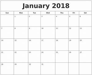 january 2018 printable calendar calendar template word With is there a calendar template in word