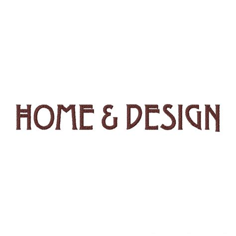Home And Design Font Embroidery Font Set  Blasto Stitch