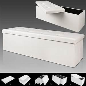 Coffre De Rangement Blanc : banc pliable avec rangement 114x40x40cm blanc achat vente banc rangement 114cm blanc cdiscount ~ Nature-et-papiers.com Idées de Décoration
