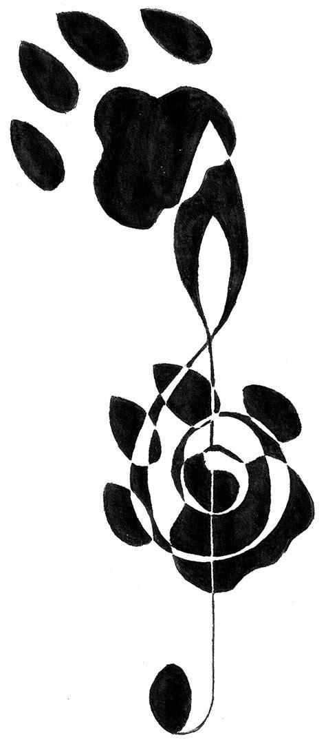 Musical Paws Tattoo Design by CrimsonWolfSobo on DeviantArt