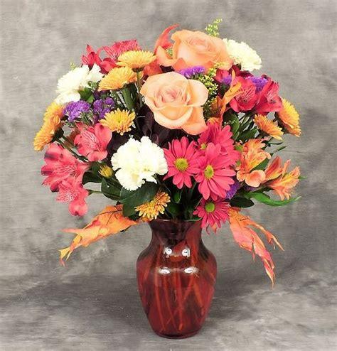 flowers in vase bright fall vase kremp