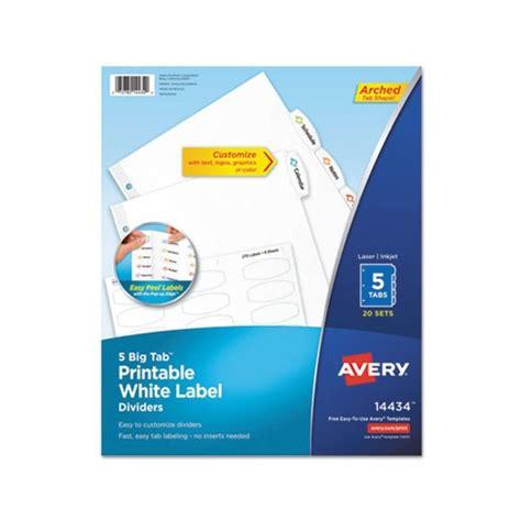 avery big tab printable white label tab dividers
