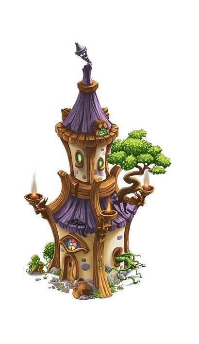 Tower Wizard Wizards Fantasy Clay Fairy Cartoon