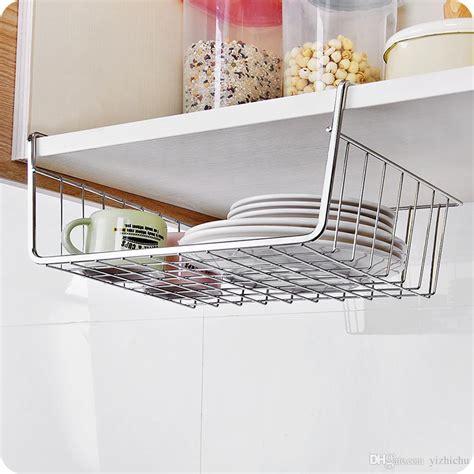 cabinet hanging storage shelf wire basket