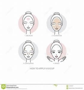 Steps How To Apply Anti Pigmenation Facial Cream Cartoon