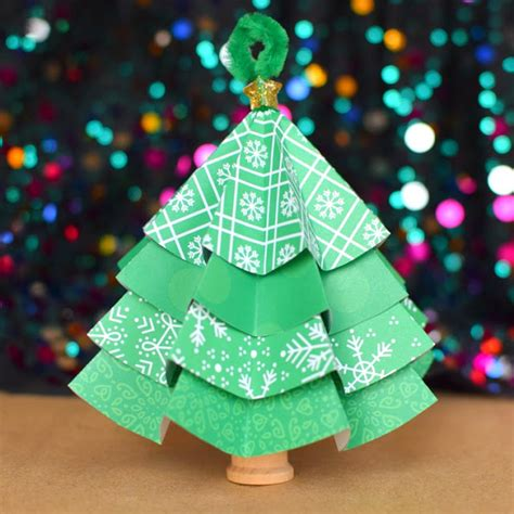 folded paper christmas tree ornaments what can we do with paper and glue
