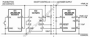 On  Off Power Control With Single Pushbutton  U2013 Simple Circuit Diagram