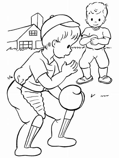 Pages Baseball Coloring Printable Colouring Toddlers Sheets