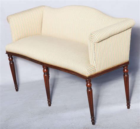 narrow upholstered bench upholstered settee in narrow form at 1stdibs