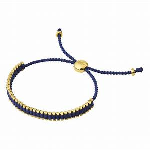 Links of London Yellow Gold and Navy Mini Friendship ...