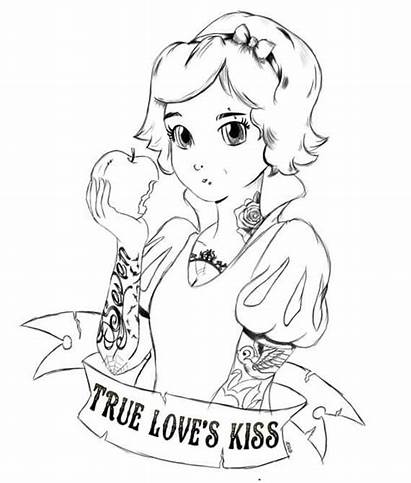 Princess Disney Punk Snow Colouring Coloring Emo