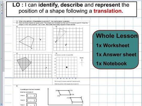 translation geometry position of shape ks2 year 5 6 whole lesson ks2 maths and