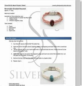 Reversible Silversilk Bracelet Instructions