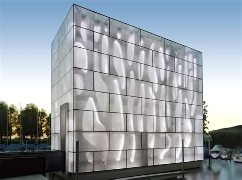 Curtain Wall Glass Panel For Facades Building Opaque Ice H