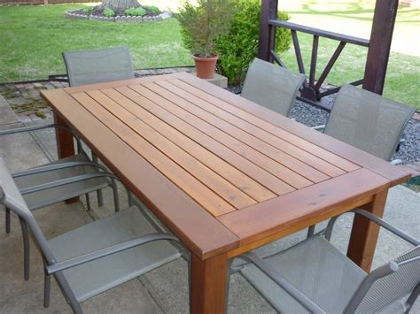 woodwork cedar outdoor dining table plans pdf plans