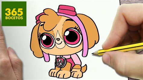 como dibujar skye patrulla canina kawaii paso  paso dibujos kawaii faciles draw  skye