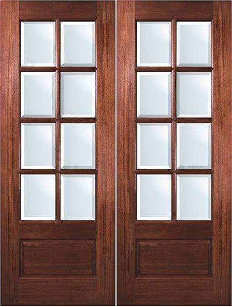 true divided lite solid mahogany  lite exterior double door