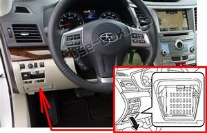 Fuse Box Diagram Subaru Outback  2010