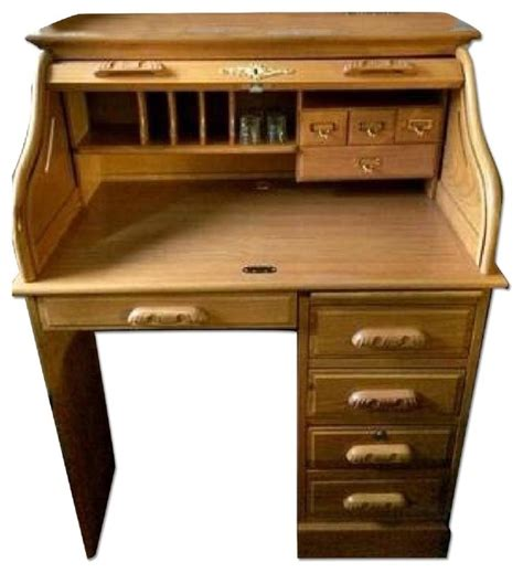 Ethan Allen Roll Top Desk ethan allen style vintage roll top desk desks and