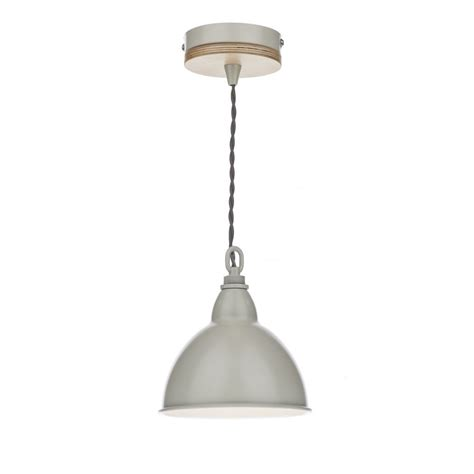 single wooden finished metal ceiling pendant class 2
