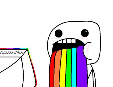 Rainbow Throw Up Meme - rainbow puke meme my face when picture pictures